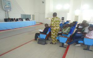 Moment de présentation des membres du cadre de concertation des OSC aux élus et cadres de la mairie