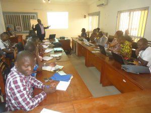 Présentation de l'ADR aux participants par le DE/MJCD membre de l'AIDR