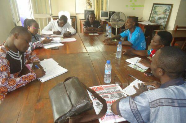 Séance de travail avec les membres du bureau du collectif des artisans de la commune d'Athiémé