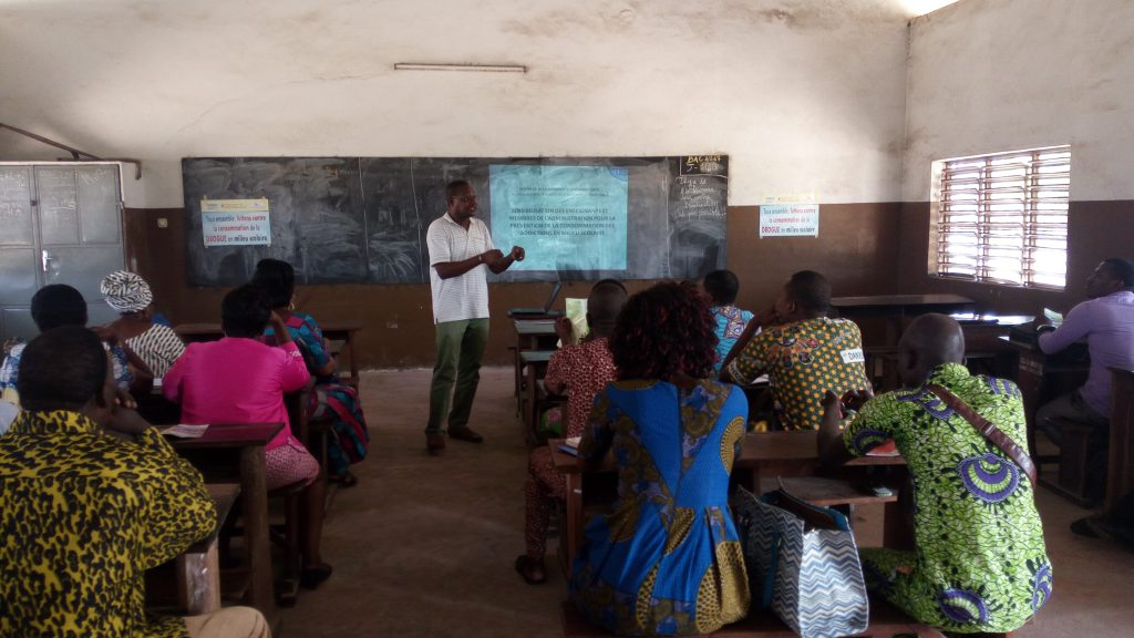 Déroulement de la formation par le Chargé de Programmes du CDEL et la Consultante-psychologue