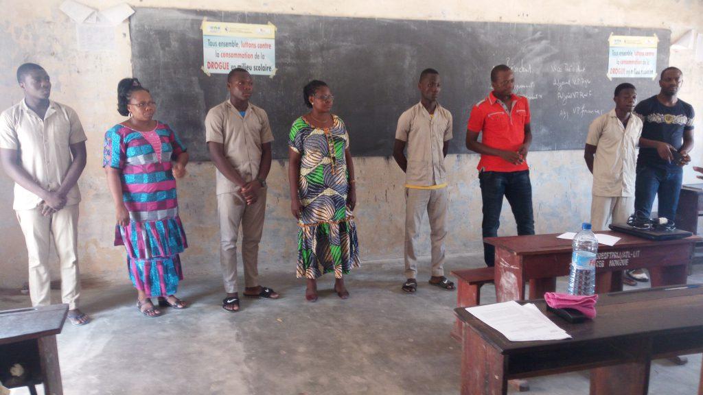 Présentation des membres du bureau exécutif du club de sensibilisation du CEG LE NOKOUE