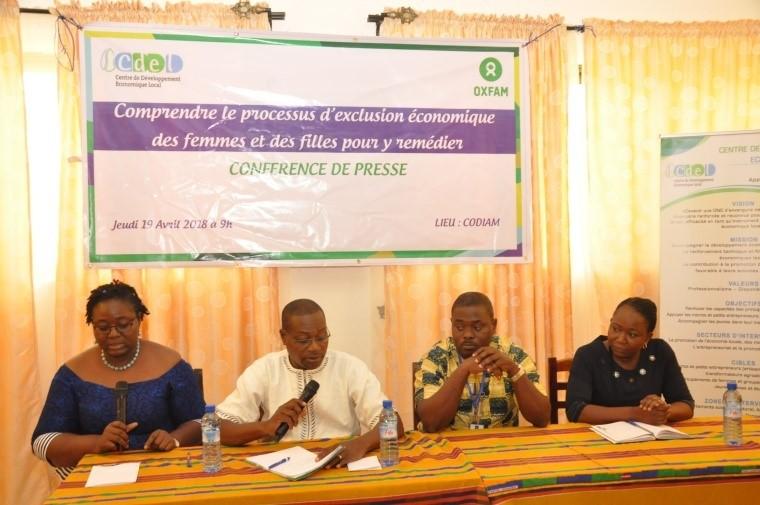 Intervention des représentants de CARE, HUNGER PROJECT, CDEL, et Fondation Claudine TALON sur les questions des Violences économiques faites aux femmes et aux filles